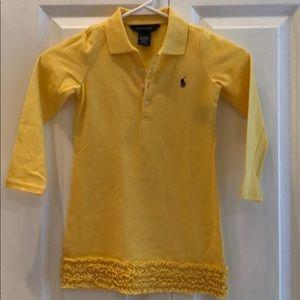 Ralph Lauren Kids 4T yellow dress long sleeve